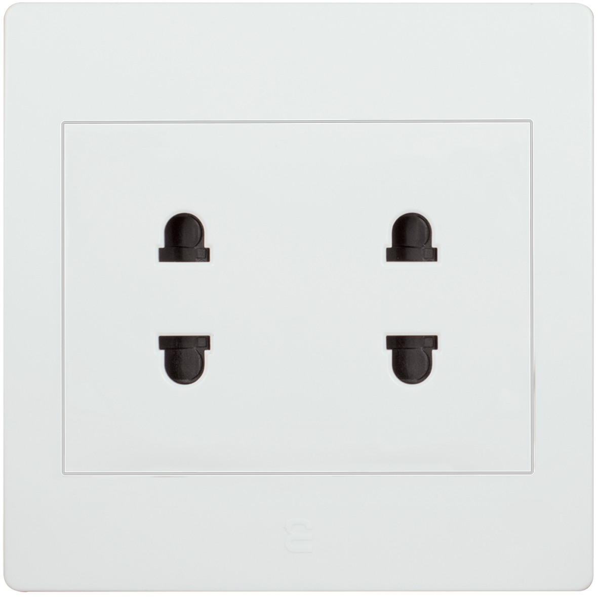 Double socket euro-american type