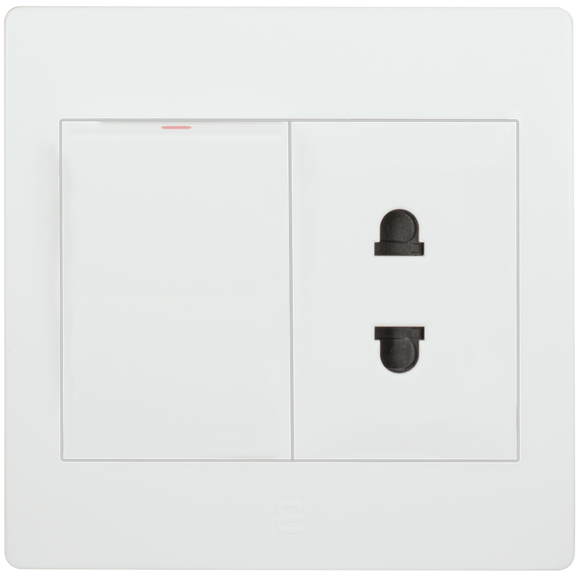 Socket euro-american type with switch