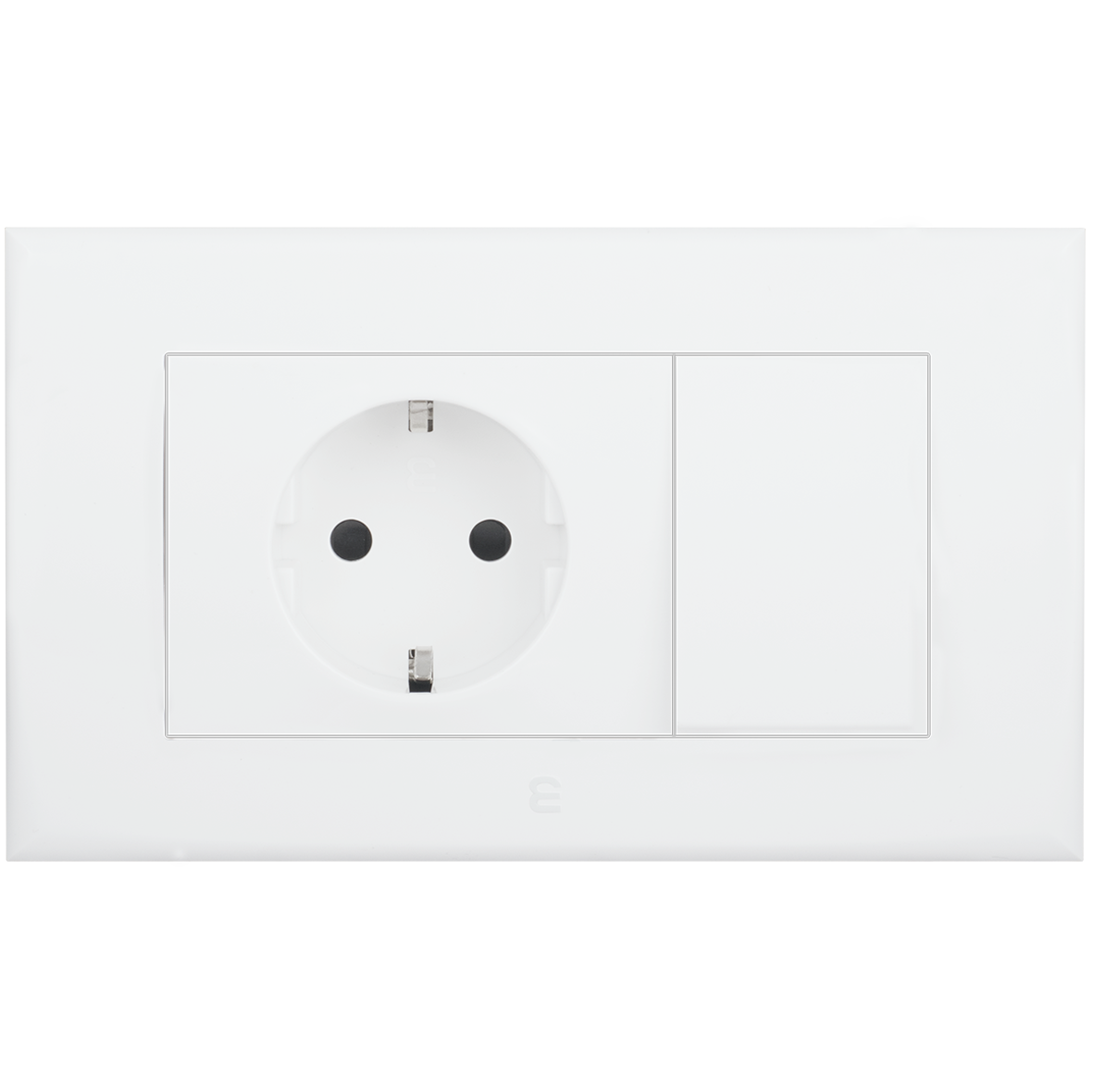 Socket german type + one way switch