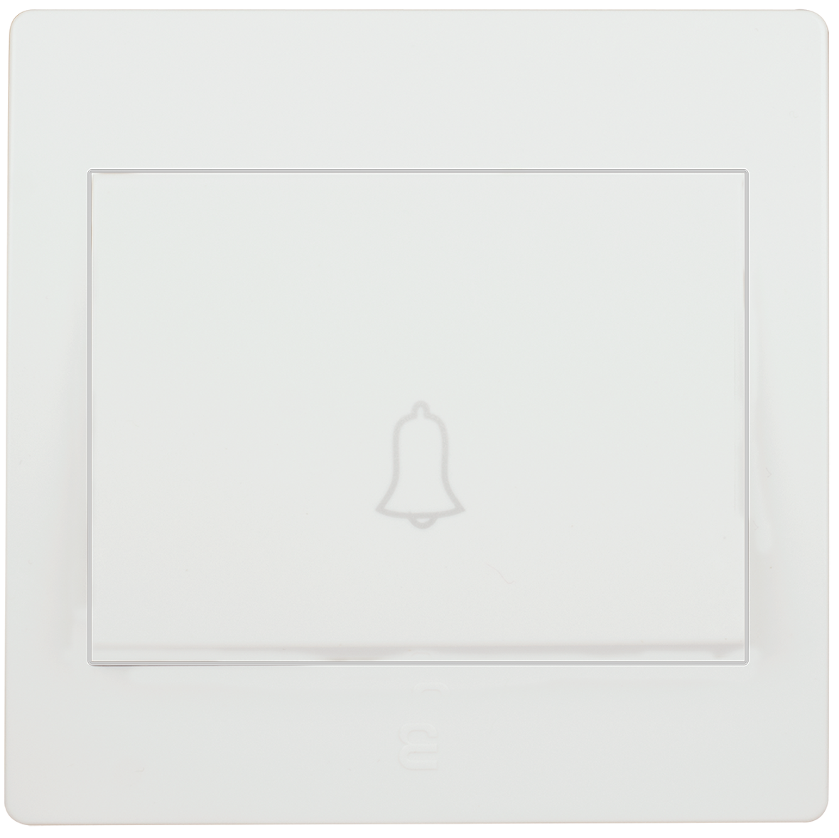 Doorbell switch with bell icon 16A 7x7
